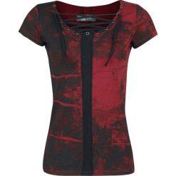 Black Premium by EMP Eyelet Lace Up Shirt Koszulka damska czarny/bordowy. Czarne bluzki damskie marki Black Premium by EMP, xl, z poliesteru. Za 42,90 zł.