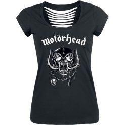 Motörhead Logo Koszulka damska czarny. Czarne t-shirty damskie Motörhead, l, z nadrukiem, z okrągłym kołnierzem. Za 54,90 zł.