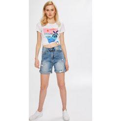 Answear - Szorty Boho Bandit. Szare szorty jeansowe damskie ANSWEAR, boho, z podwyższonym stanem. W wyprzedaży za 79,90 zł.
