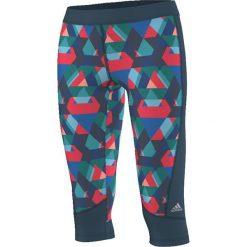 Adidas Legginsy Techfit Capri Typo Print granatowo-zielone r. S (AJ0533). Czarne legginsy sportowe damskie marki Adidas, l, z bawełny. Za 122,70 zł.