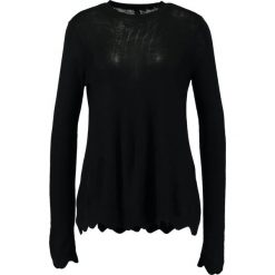 Swetry klasyczne damskie: YAS YASLIAM LS KNIT PULLOVER Sweter black