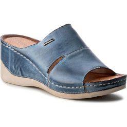 Klapki damskie: Klapki WASAK – O465 Jeans