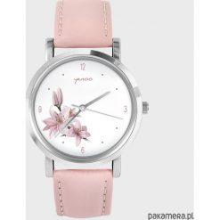 Zegarki damskie: Zegarek – Różowa lilia – pudrowy róż
