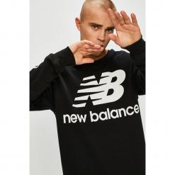 New Balance - Bluza. Czarne bluzy męskie rozpinane marki New Balance, l, z nadrukiem, z bawełny, bez kaptura. Za 269,90 zł.