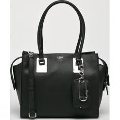 Guess Jeans - Torebka. Czarne torebki klasyczne damskie marki Guess Jeans, z aplikacjami, z bawełny, duże. Za 699,90 zł.