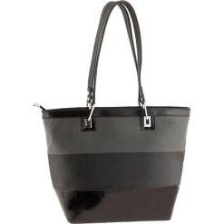 Torebki klasyczne damskie: Skórzana torebka w kolorze czarno-antracytowym – 40 x 30 x 15 cm