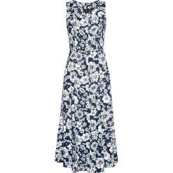 Sukienki: Sukienka z wiskozy bonprix ciemnoniebiesko-biały z nadrukiem