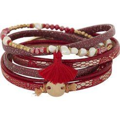 Bransoletki damskie: Bransoletka w kolorze czerwonym