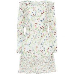 Sukienki: Sukienka szyfonowa bonprix dymny miętowy w kwiaty