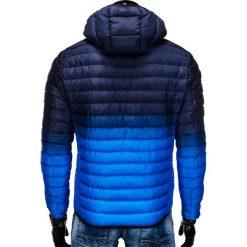 KURTKA MĘSKA ZIMOWA PIKOWANA C319 - GRANATOWA. Czarne kurtki męskie pikowane marki Ombre Clothing, na zimę, m, z poliesteru. Za 129,00 zł.
