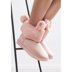 Różowe Śniegowce Cutie Bunny. Czerwone buty zimowe damskie Born2be. Za 89,99 zł.