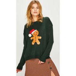 Answear - Sweter. Brązowe swetry oversize damskie ANSWEAR, l, z dzianiny. Za 99,90 zł.