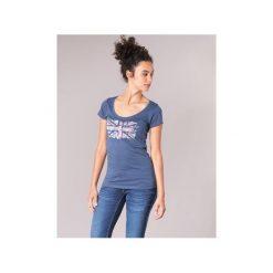 T-shirty z krótkim rękawem Pepe jeans  CARA. Niebieskie t-shirty damskie Pepe Jeans, l, z jeansu. Za 109,00 zł.