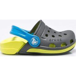 Crocs - Klapki dziecięce. Szare klapki chłopięce marki Crocs, z gumy. Za 129,90 zł.