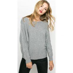 Medicine - Sweter Nocturne. Szare swetry klasyczne damskie MEDICINE, l, z bawełny, z dekoltem w łódkę. W wyprzedaży za 59,90 zł.