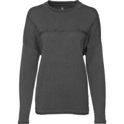 Swetry klasyczne damskie: Sweter z ćwiekami bonprix dymny szary