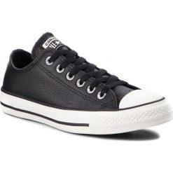 Trampki CONVERSE - Ctas Ox 161497C Black/Black/Egret. Czarne trampki męskie Converse, z gumy. W wyprzedaży za 249,00 zł.