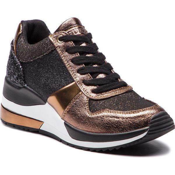 Bardzo dobryFantastyczny Sneakersy GUESS - FLJAT4 FAM12 BLKBR - Żółte sneakersy damskie FR32