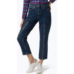 Tommy Jeans - Jeansy damskie, niebieski. Szare spodnie z wysokim stanem marki Tommy Jeans, l, z dzianiny, z podwyższonym stanem, dopasowane. Za 599,95 zł.