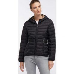 Kurtka zimowa w kolorze czarnym. Czarne kurtki damskie Dreimaster, na zimę, xs, z kapturem. W wyprzedaży za 216,95 zł.