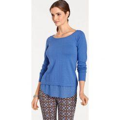 Odzież damska: Sweter w kolorze niebieskim