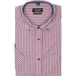 Koszule męskie jeansowe: koszula bexley 2315 krótki rękaw custom fit czerwony