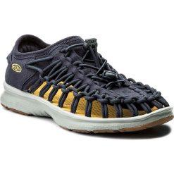 Sandały KEEN - Uneek 02 1019250 Dress Blues/Neutral Gray. Niebieskie sandały chłopięce Keen, z materiału. W wyprzedaży za 199,00 zł.