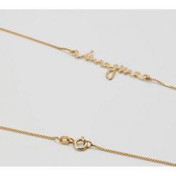 Biżuteria i zegarki: MALAIKARAISS NECKLACE FONT IMAGINE Naszyjnik goldcoloured