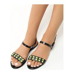 Rzymianki damskie: Czarne Sandały Donna