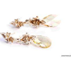 Kolczyki damskie: Kolczyki złocone z kamieniem Swarovskiego
