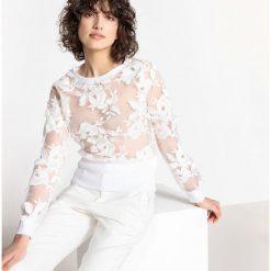Bluzy rozpinane damskie: Bluza z koronką
