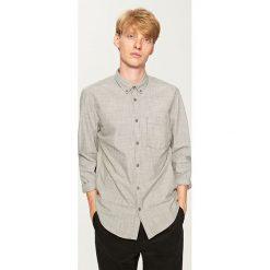 Koszula regular fit - Szary. Szare koszule męskie marki House, l, z bawełny. Za 159,99 zł.