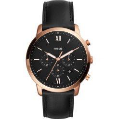 Zegarek FOSSIL - Neutra Chrono FS5381 Black/Rose Gold. Czarne zegarki męskie Fossil. Za 589,00 zł.