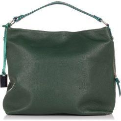 Torebki klasyczne damskie: Skórzana torebka w kolorze zielonym – (S)37 x (W)45 x (G)15 cm