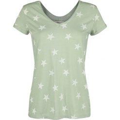 Bluzki asymetryczne: Urban Surface Stars Koszulka damska zielony (Mint)