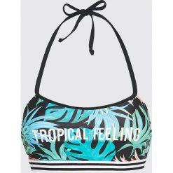Stroje dwuczęściowe damskie: Bikini z motywem tropikalnych liści – Wielobarwny