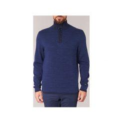 Swetry Tommy Hilfiger  MINI JACQUARD BTN-NK CF. Niebieskie swetry klasyczne męskie TOMMY HILFIGER, m. Za 398,30 zł.