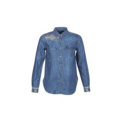 Koszule Desigual  EXOTIC CLASSIC. Szare koszule damskie marki Desigual, l, z tkaniny, casualowe, z długim rękawem. Za 439,00 zł.