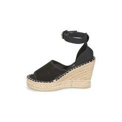 Sandały Superdry  ANNA WEDGE ESPADRILLE. Czarne sandały damskie Superdry. Za 175,20 zł.