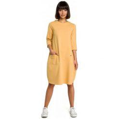 Sukienki: Bewear Sukienka Damska M Żółty