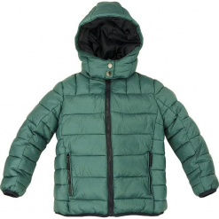 Kurtka zimowa w kolorze zielonym. Zielone kurtki chłopięce zimowe marki Bondi, ze skóry. W wyprzedaży za 132,95 zł.