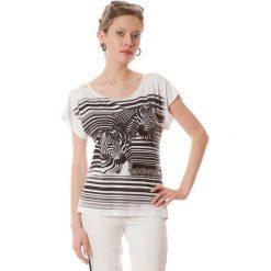Bluzki asymetryczne: Bluzka w kolorze biało-czarnym