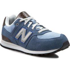 Trampki chłopięce: Sneakersy NEW BALANCE – KL574U2G Niebieski