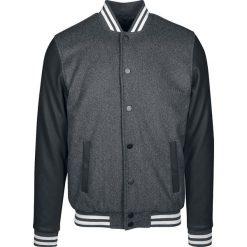 Urban Classics Oldschool College Jacket 2.0 Kurtka ciemnoszary/czarny/biały. Niebieskie kurtki męskie marki Urban Classics, l, z okrągłym kołnierzem. Za 284,90 zł.