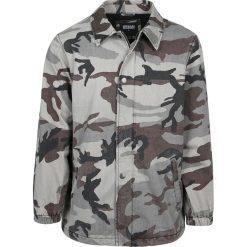 Urban Classics Camo Cotton Coach Jacket Kurtka kamuflaż szary. Niebieskie kurtki męskie marki Urban Classics, l, z okrągłym kołnierzem. Za 164,90 zł.