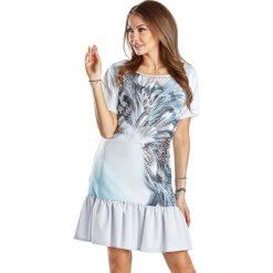 Sukienki hiszpanki: Sukienka w kolorze szarym ze wzorem