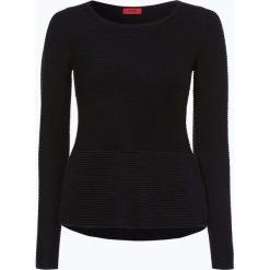 Swetry klasyczne damskie: HUGO - Sweter damski z dodatkiem jedwabiu – Saher, czarny