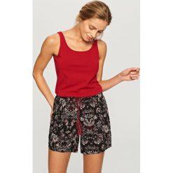 Piżamy damskie: Dwuczęściowa piżama z topem – Czerwony