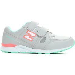 Szaro-Zielone Buty Sportowe Running Time. Szare buty sportowe dziewczęce marki Born2be, z nadrukiem, ze skóry, z okrągłym noskiem, na rzepy. Za 39,99 zł.
