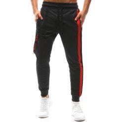 Joggery męskie: Spodnie męskie joggery antracytowe (ux1139)